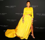 Rihanna In Oscar de la Renta - Fenty Beauty by Rihanna Launch