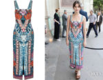 Sai Bennett's Temperley London Pipe Dream Printed Midi Dress