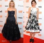 Sarah Gadon In J. Mendel & Rebecca Liddiard In Lucian Matis - 'Alias Grace' Toronto Film Festival Premiere