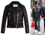 Selena Gomez's Acne Studios Mock Leather Biker Jacket