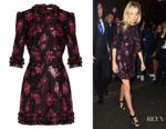 Sienna Miller's The Vampire's Wife Cate Floral fil Coupé Mini Dress
