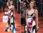 Silvia Abascal In Elie Saab - FesTVal 2017