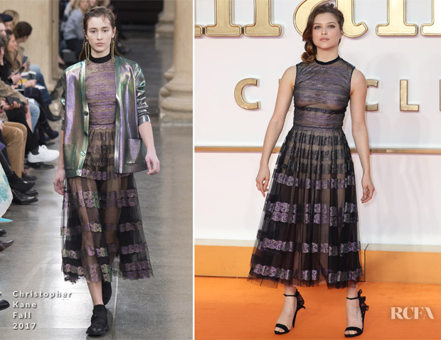 Sophie Cookson In Christopher Kane -'Kingsman: The Golden Circle' London Premiere