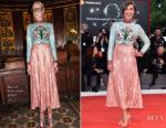 Stella Egitto In Gucci - The Leisure Seeker (Ella & John) Venice Film Festival Premiere