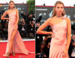 Stella Maxwell In Twinset -  'Mother!' Venice Film Festival Premiere