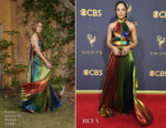 Tessa Thompson In Rosie Assoulin - 2017 Emmy Awards