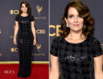 Tina Fey In Carmen Marc Valvo - 2017 Emmy Awards