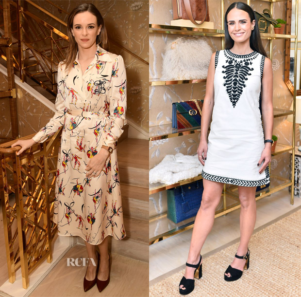 7d745a5c58ea Danielle Panabaker: The silhouette of this Tory Burch Fall 2017 'Vance'  dress may have been conservative but the print was plenty whimsical to make  up for ...