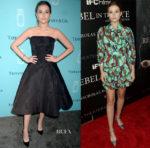 Zoey Deutch In Zac Posen & Miu Miu - Tiffany & Co. Fragrance Launch Event & 'Rebel In The Rye' New York Premiere