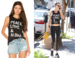 Alessandra Ambrosio's Spiritual Gangster PLA Stacked Muscle Tank