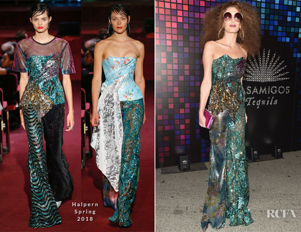 Amal Clooney In Halpern Casamigos Halloween Party Red Carpet Fashion Awards