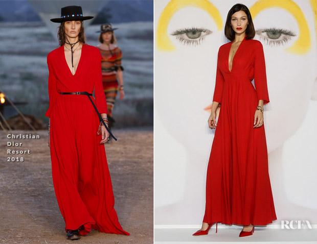 Bella Hadid In Dior The Art Of Color Exhibition
