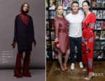 Bella Heathcote In Victoria, Victoria Beckham & Rebecca Hall In Diane von Furstenberg - Meet and Greet at New York's Forbidden Planet
