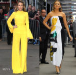Blake Lively In Brandon Maxwell & Oscar de la Renta - Good Morning America