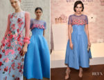 Camilla Belle In Carolina Herrera - Elizabeth Taylor Love & White Diamonds New Fragrance Launch