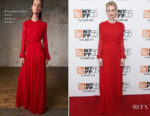 Carey Mulligan In Giambattista Valli - 'Mudbound' New York Screening
