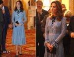 Catherine, Duchess of Cambridge In Temperley London - World Mental Health Day