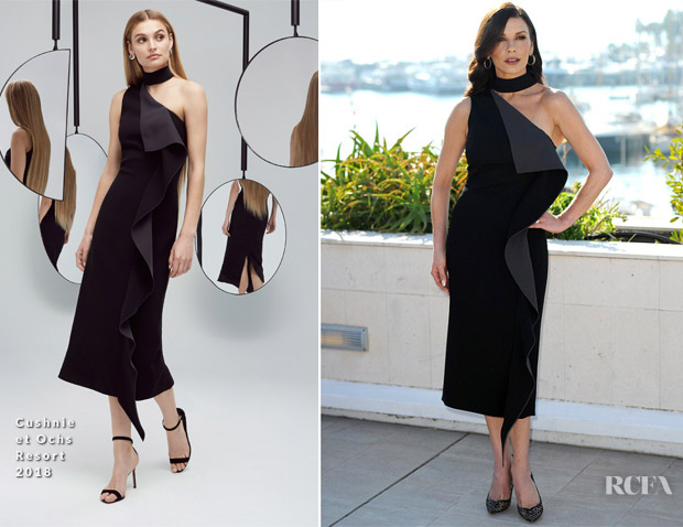 Catherine Zeta Jones In Cushnie et Ochs - Cocaine Godmother' Cannes MIPCOM Photocall
