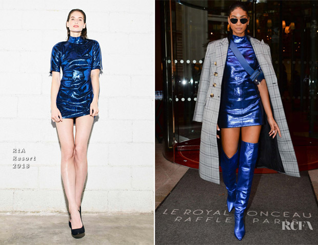 Chanel Iman In RtA & Acler - Out In Paris