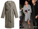 Chrissy Teigen's Zimmermann Rife Checked Wool Trench Coat