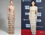 Christian Serratos In J. Mendel - 'The Walking Dead' 100th Episode Premiere