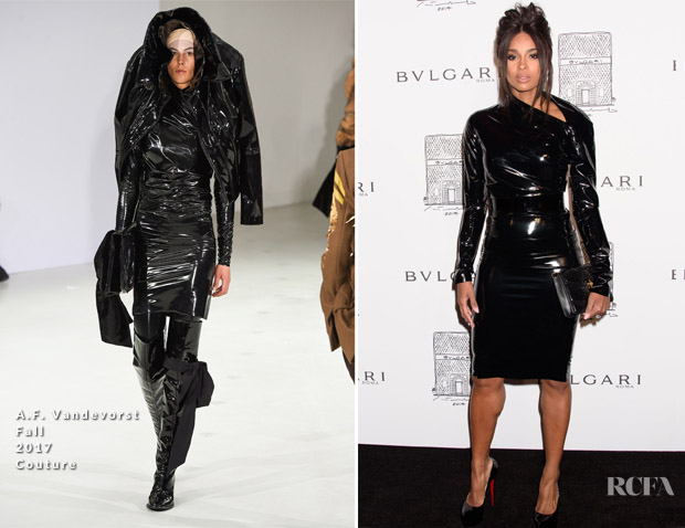 Ciara In A.F. Vandevorst Couture - Bvlgari Flagship Store Reopening