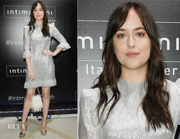 Dakota Johnson In The Vampire's Wife - Intimissimi New York Grand Opening