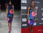 Danai Gurira In Mary Katrantzou - 'The Walking Dead' 100th Episode Premiere