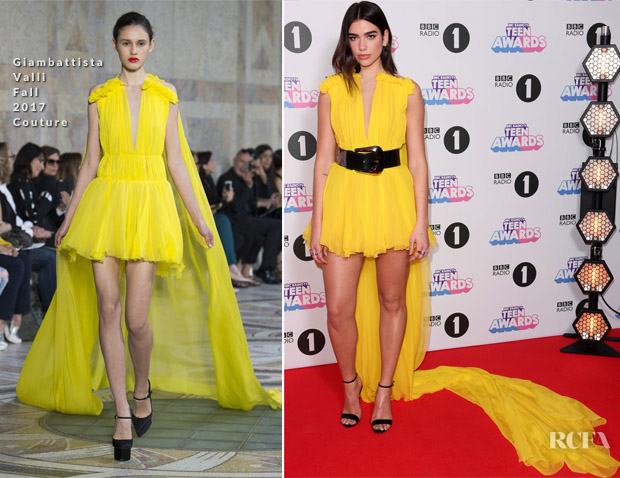 Dua Lipa In Giambattista Valli Couture & Alessandra Rich - BBC Radio 1 Teen Awards