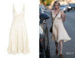 Emma Roberts Topshop Satin Slip Dress