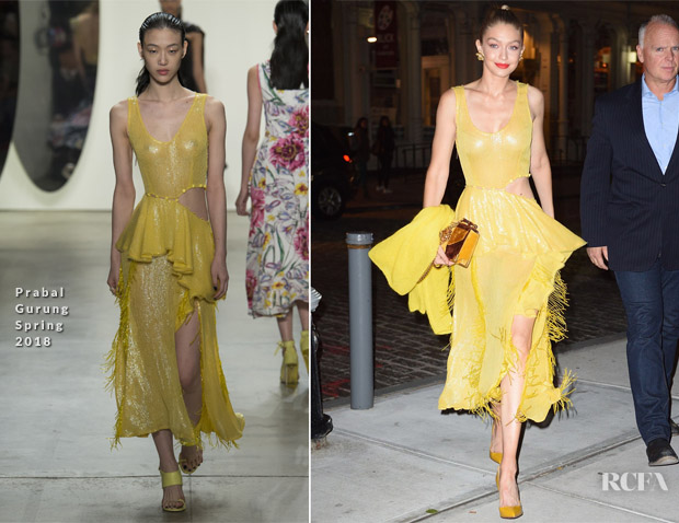 Gigi Hadid In Prabal Gurung - 'All I See Is You' Premiere