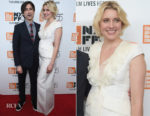 Greta Gerwig In Antonio Berardi -  'Meyerowitz Stories' New York Film Festival Screening