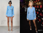 Hailey Baldwin In Alessandra Rich - TBS' Drop the Mic and The Joker's Wild Premiere Party