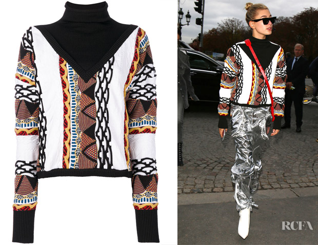 Hailey Baldwin's Aalto Roll Neck Patterned Jumper