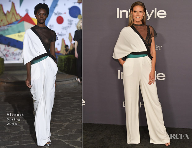 Heidi Klum In Vionnet - 3rd Annual InStyle Awards