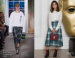Jenna Coleman In Burberry September Collection - BAFTA Breakthrough Brits 2017