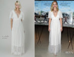 Jennifer Lawrence In L. Wells Bridal - 'Faces Places' LA Premiere