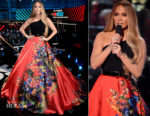 Jennifer Lopez In Romona Keveza & Elie Saab Couture - One Voice: Somos Live! A Concert For Disaster Relief