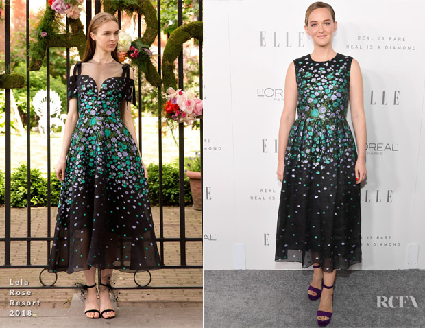 Jess Weixler In Lela Rose - ELLE's 24th Annual Women in Hollywood Celebration