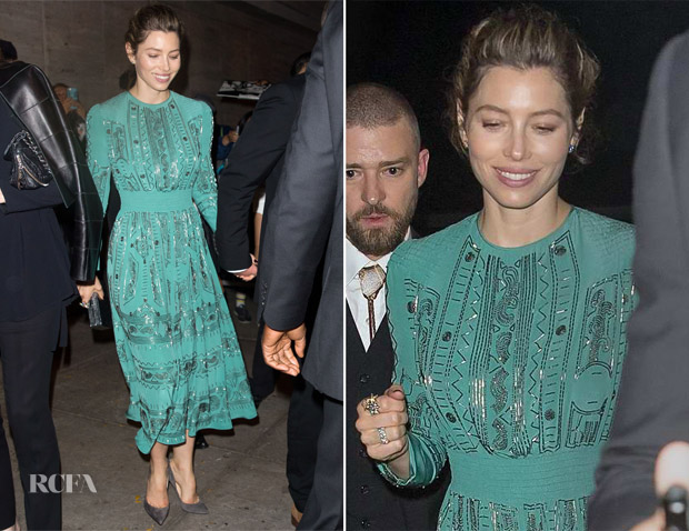 Jessica Biel In Valentino - Wonderwall' New York Screening