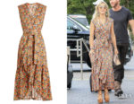 Julianne Hough's Rebecca Taylor Moonlight Garden Wrap Dress