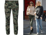 Kaia Gerber's Nili Lotan Cropped French Military Pants