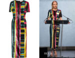 Kate Bosworth's Diane von Furstenberg Sequined Midi Dress