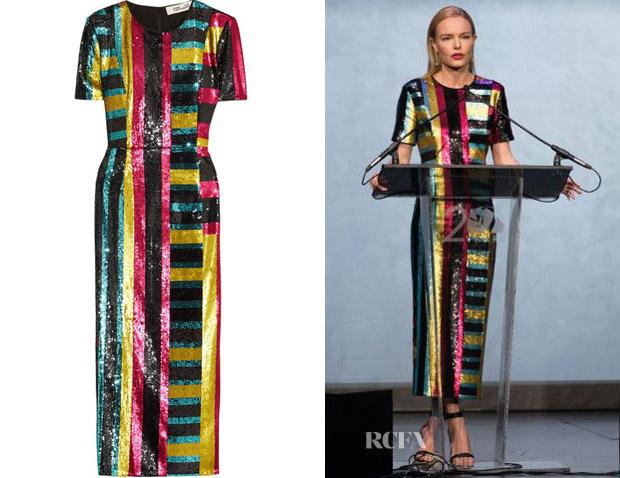 2b4e91ecda0 Kate Bosworth s Diane von Furstenberg Sequined Midi Dress