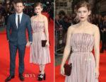 Kate Mara In Prada & Jamie Bell In Burberry Tailoring - 'Film Stars Don't Die In Liverpool' London Film Festival Premiere