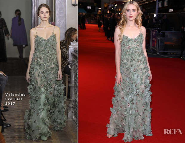 Kathryn Newton In Valentino - 'Three Billboards Outside Ebbing, Missouri' London Film Festival Closing Ceremony