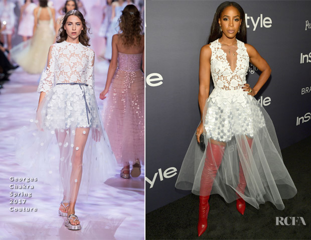 Kelly Rowland In Georges Chakra Couture - 3rd Annual InStyle Awards