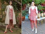 Lake Bell In Rosie Assoulin - CFDA/Vogue Fashion Fund Show