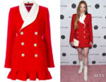 Larsen Thompson's Alessandra Rich Ruffled Suit-Style Dress