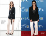 Lea Michele In Ermanno Scervino - HFPA Television Game Changers Panel Discussion